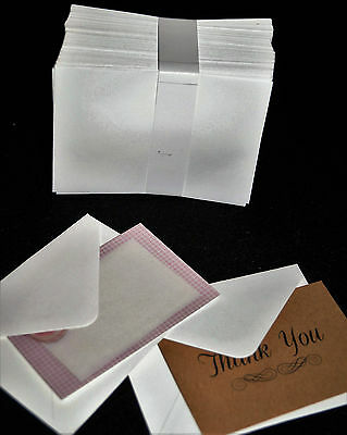 50 x Small White Envelope 85x 110mm Multiply Applications including Florist card