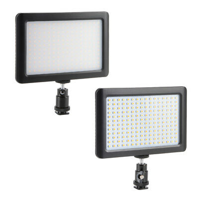 192 LED Photo Video Light Lamp Panel+Hot Shoe+Battery for DSLR Camera Camcorder