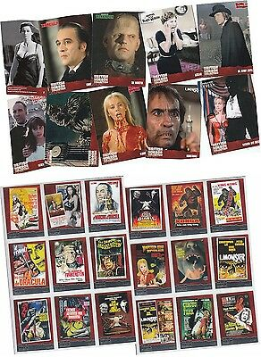 British Horror Collection - 92 Card Basic/Base Set & 18 Card Foil Chase Set