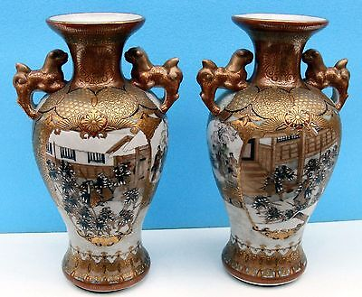Pair of Japanese Kutani Vases - exceptional work - Meiji period - Circa 1880