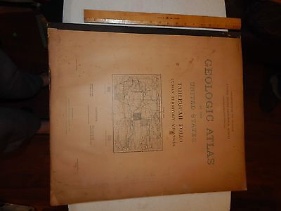 Geologic Atlas 1905 #122 Tahlequah Folio Indian Territory/arkansas Maps U.s.