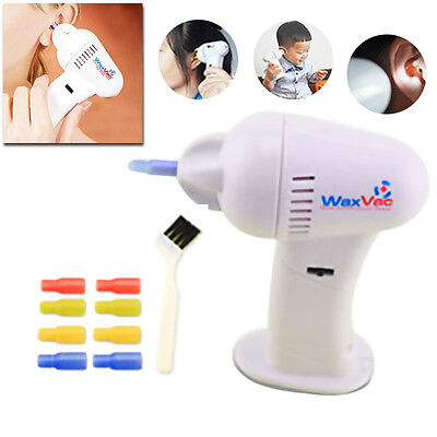 Electric Ear Cleaner Wax Remover Pick Removal Cordless Vacuum Easy Painless UK