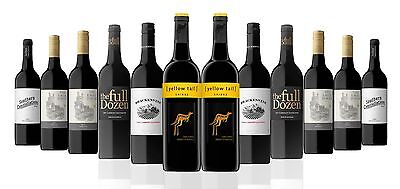 12 Bottles Red Mix Wine From SE Australia Including 2 Bottles Of Yellow Tail
