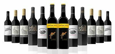 Red Mix Wine From SE Australia Including 2 Bottles Of Yellow Tail (12x750ml)