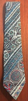 Vintage Men's Liberty Of London Pure Silk Hand Made Neck Tie