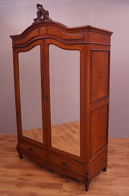 1815 !! Stunning French Mahogany Wardrobe/armoire In Rocailie Style !!
