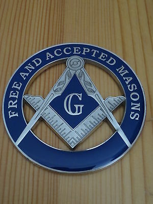 Masonic Auto Car Badge Emblems mason freemason E26 FREE AND ACCEPTED MASONS