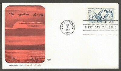 Us Fdc 1984 Preserving Wetlands 20C Marg Cachet First Day Of Issue Cover