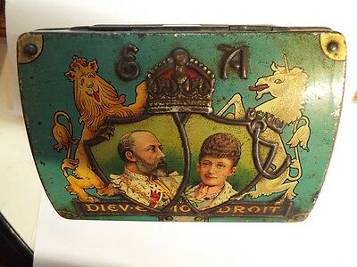 Irish Tin Commemorating the Coronation of King Edward & Queen Alexandria