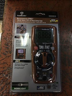 NEW! Southwire ResidentialPRO True RMS Cat III Multimeter Pro Model #13070T