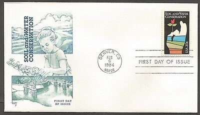 Us Fdc 1984 Soil & Water Conservation 20C Marg Cachet First Day Of Issue Cover