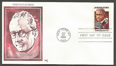 Us Fdc 1985 Jerome Kern 22C Stamp Marg Cachet First Day Of Issue Cover