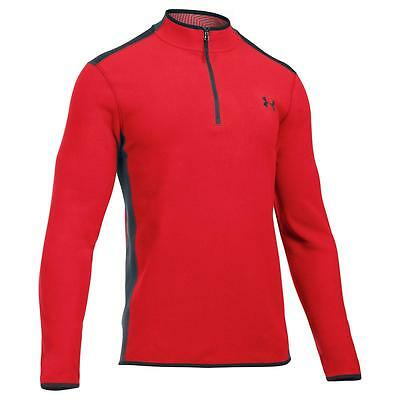 Mens Red Under Armour Coldgear Infrared Quarter Zip Fleece Red Only £44.50