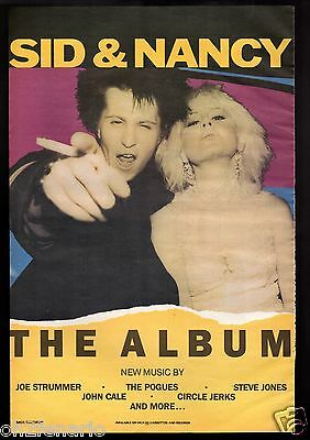 Vintage 1986 Print Ad Sid & Nancy The Album John Cale The  Pogues Large Format