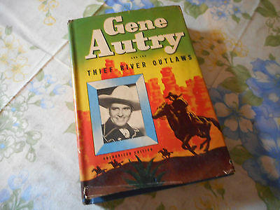 Gene Autry & The Thief River Outlaws 1944 Whitman Hardcover  Book