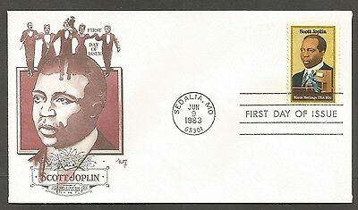 Us Fdc 1983 Scott Joplin 20C Stamp Marg Cachet First Day Of Issue Cover