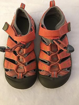 Girl's Keen, Coral & Grey Sandals Size 1 Shoes