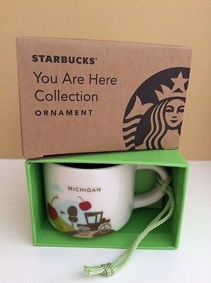 Starbucks 2016 You Are Here YAH Collection Michigan State Ornament 2 Fl Oz