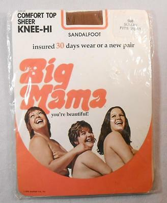 Unopened 1970's Package Big Mama Nylon Stockings - Semi-Nude Models