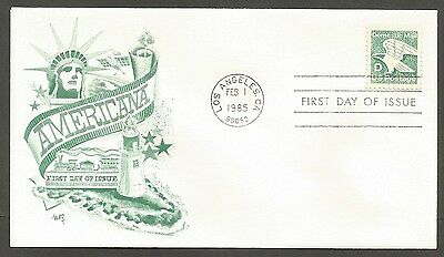 Us Fdc 1985 Americana Domestic D Stamp Marg Cachet First Day Of Issue Cover