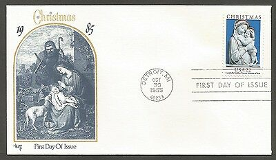 Us Fdc 1985 Christmas Luca Della Robbia 22Cmarg Cachet First Day Of Issue Cover