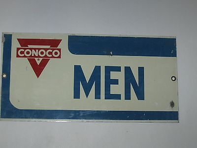 Vintage Original Conoco Gas Station Men Rest Room Sign