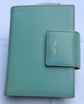 Fabulous Kate Spade Planner / Organizer Pool/Moss  Made In Italy with Extras