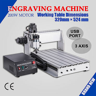 CNC 3D Router Engraver 3 Axis 3040T Wood Engraving Machine w/ USB Port