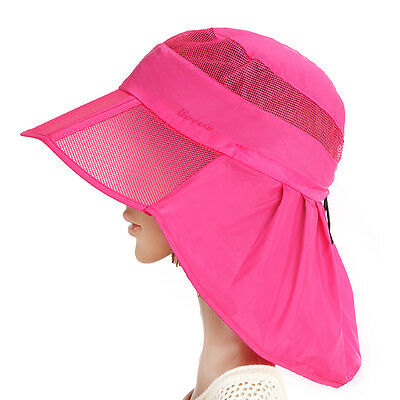 Women Ladies Wide Brim Summer Beach Sun Protection Floppy Foldable Hat Cap Visor