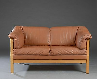 Stouby danish 2 seater leather sofa