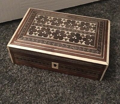 Antique Islamic /Middle Eastern Micro Mosaic Wooden Box