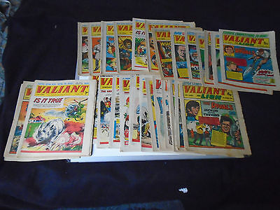 TWENTY FIVE  VALIANT COMICS from 12th july 1969collectors  items.