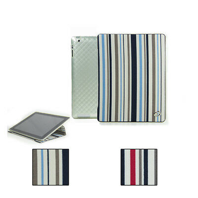 KroO Tri-Fold Folio w/ Clear Rear Case for Apple iPad (2nd, 3rd and 4th Gen)