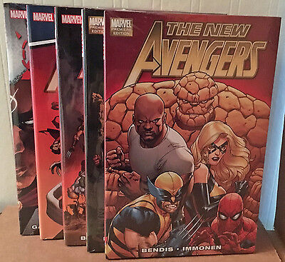 NEW AVENGERS By Bendis HC Hardcover VOL 1-5 *Sealed/NM* (2011 #1-34) $135 Cover