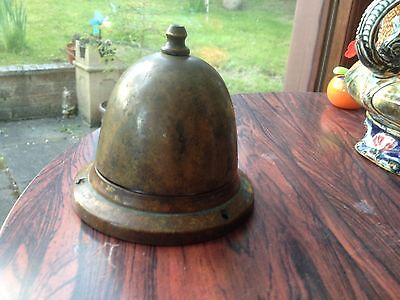 Antique Victorian Solid Brass Hotel / Bar Counter Bell Needs Attention