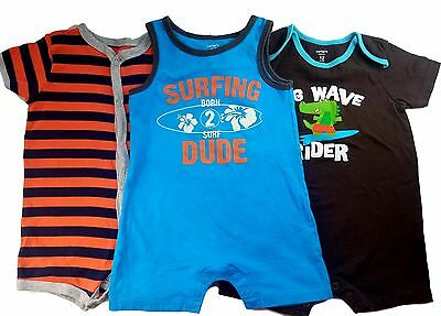 Baby Boy 12 Months Carter's Summer One piece Outfit Romper Clothes Lot Free Ship