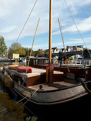 House Boat Dutch Barge for Sale on Thames Residential Mooring near Kingston