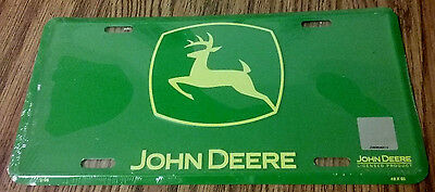 John Deere License Plate Green Yellow Logo Licensed Product NEW with Hologram