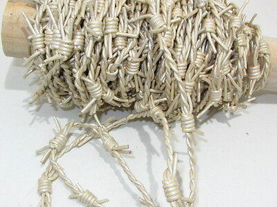 Leather barbed wire, 10 yards of pearl made with 2 mm leather cords.... 01074