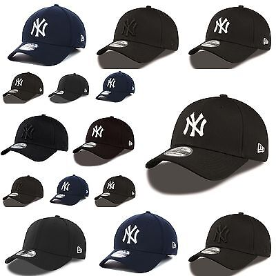 New Era 39THIRTY New York Yankees Basic Stretch Fit Baseball Cap Black White Red