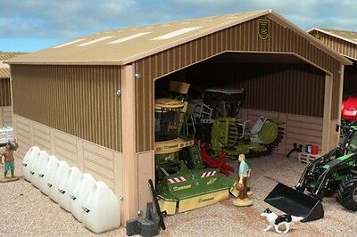 BRUSHWOOD BT9000 SINGLE BAY SHED - 1:32 Farm Toys