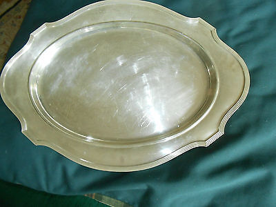 """ANTIQUE GORHAM, PLYMOUTH,sterling silver serving platter/tray 21""""x15"""" year 1912"""