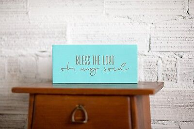 Christian Wood Sign | Bless the Lord Oh My Soul Reclaimed Wood Sign | Blessed Si