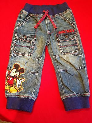 Mickey Mouse Denim Jeans Size 18-24 Months