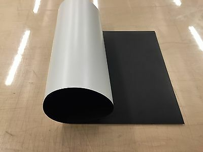 "Magnum BLANK Magnetic Banner 30mil White UV Laminate 12"" x 24"" Sign Sheet Roll"