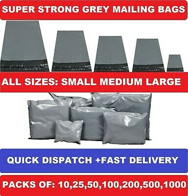 """GREY MAILING BAGS POLY POSTAL POST POSTAGE SELF SEAL MAIL6x9"""" 9x12"""" 10x14""""12x16"""""""