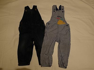 2 pairs boys M&S dungarees 18-24 months