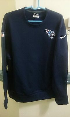 Nike Therma-Fit Men's Nfl Tennessee Titans Sweatshirt Navy Blue Size Xl $