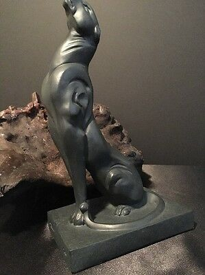 Contemporary Black Panther Statue Signed And Dated 1996