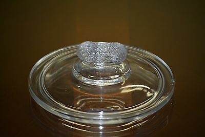 "Vintage 5"" Peanut Finial Glass Jar Lid Candy Nut Display"